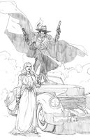 The Shadow and Margo Lane pencils by MarcLaming