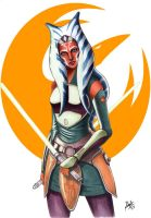Ahsoka Tano by angelaxiii