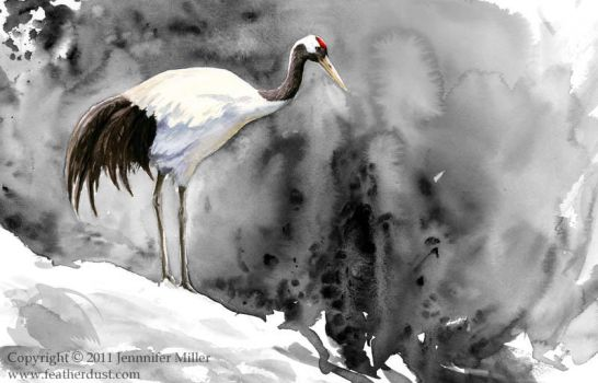 Red-Crowned Crane by Nambroth