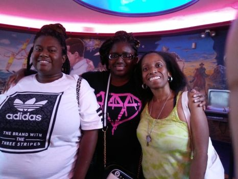 Me and my sisters at the movies by himegirl15