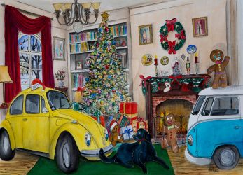 Taxi Bug's Christmas I by gypsysnail