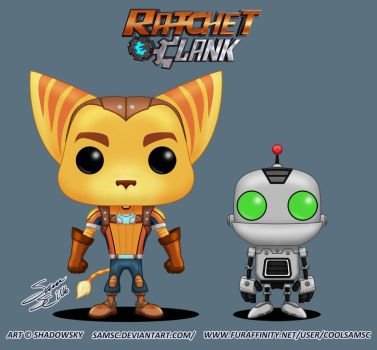 Ratchet and Clank Funko Pops by SamSC