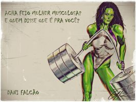 She Hulk Sensacional for muscle women by ArchiveSW