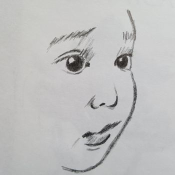 5 minute sketch of a small childs face. by dorofo