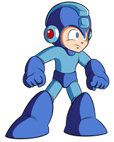 HD Mega Man Sprite by JusteDesserts