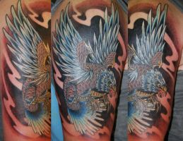 covering up two tattoo's by newtskewltattoo