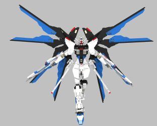 Lego Strike Freedom Gundam Version 2: Rise! by mithrylaltaire