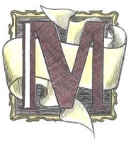 illuminated m by m-e-a-g-z