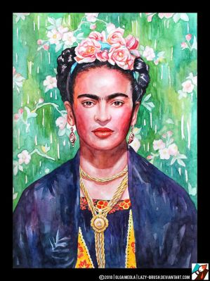 Portrait of Frida Kahlo #2 by lazy-brush