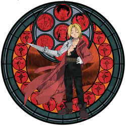:Stained Glass: Edward Elric by PowBunny