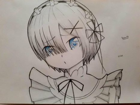Rem drawing by MikerinoCz