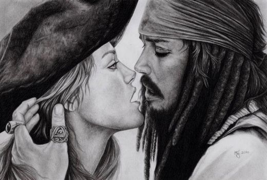 Jack Sparrow and Miss Swann by titol87