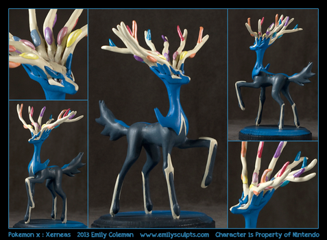 Pokemon X Legenda: Xerneas by emilySculpts