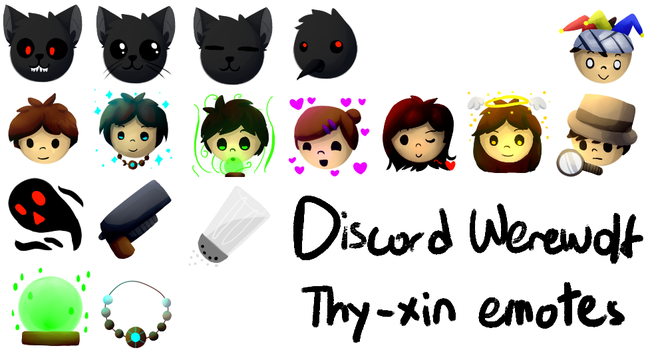 Discord Werewolf - Thy-xin-made emotes by Thy-xin
