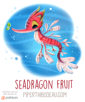 Daily Paint 1601. Seadragon Fruit by Cryptid-Creations