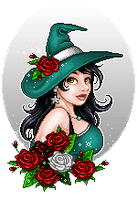 Rose witch by ImaginaryKarin