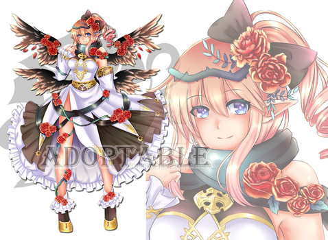 [Closed] Adopt Auction : Rose angel girl by Theorika
