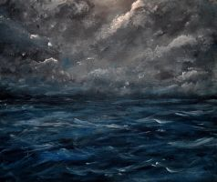 Stormy Sea - work in progress by Forestina-Fotos