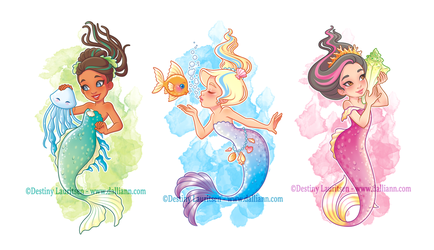 Mermaid Trio by Dalliann