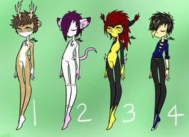 Mixed ADOPTABLES CLOSED by Hawkidoptables