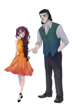 [Commission] Nynaeve and Lan Modern AU by SerenaR-art