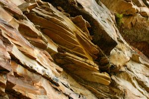 Sedimentary Rock Wall by CageyResources