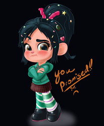 Vanellope - You Promised! by artistsncoffeeshops