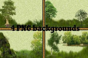 4 PNG backgrounds by roula33