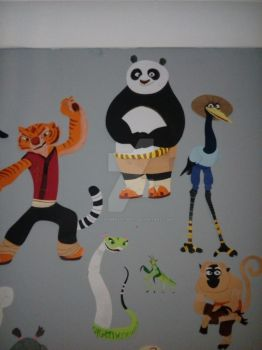 Paper Characters: Po and the Furious Five by JustSomePainter11