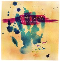 22 acrylic paint and watercolor textures by elphielein