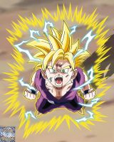 Gohan Turning To Super Saiyan 2 by kingvegito