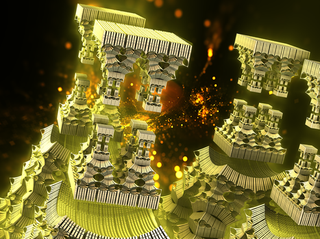 Dubla, the Fractal Fire Gate Towers by Jakeukalane