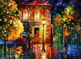 Night Of Expectations by Leonid Afremov by Leonidafremov