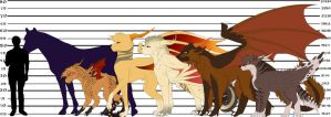 Dakotian Height Comparison Chart 1(Added Rapido) by Redwolfless