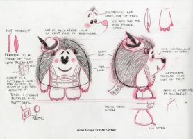 Mr.Pricklepants Model Sheet by danielarriaga