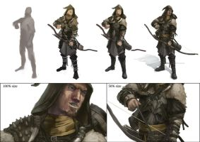 Mercenary Archer process by Windmaker