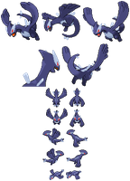 Shadow Lugia sprites for fangames by Shadowgate31