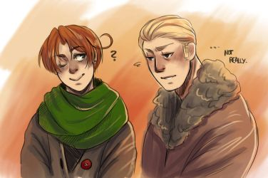 More Cuties in Scarves and thick jackets by amarilloh