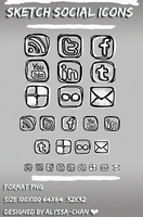 Sketch Social Icons Set by Jexyla