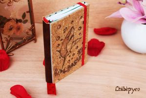 Refiliable cork notebook with shark by ChibiPyro