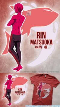 Free! Rin Shirt Design by a745