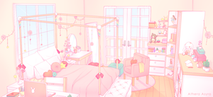 CM   Peach Bedroom by AtheraAsyra