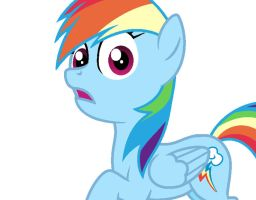 Rainbow Dash Skeptical by Pupster0071
