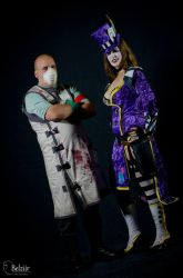 Mad Moxxi and Dr. Zed by LadyCrankypants