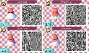 Peach Coat Animal Crossing Design QR Code by GreenArcadia