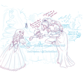 LO - RodT - EmilyxLouisXVI. Family Sketch by RedPassion