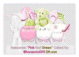 [RESOURCES] - PINK / GREEN Collect by @bonsociu009 by bonsociu009