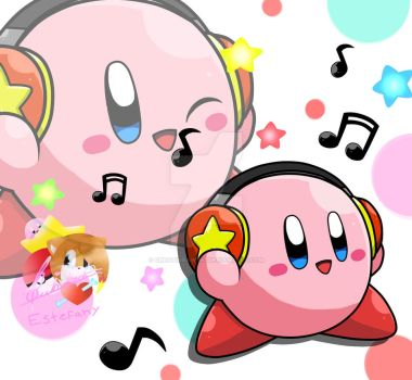 Kirby con audifonos by CreatiDrawing