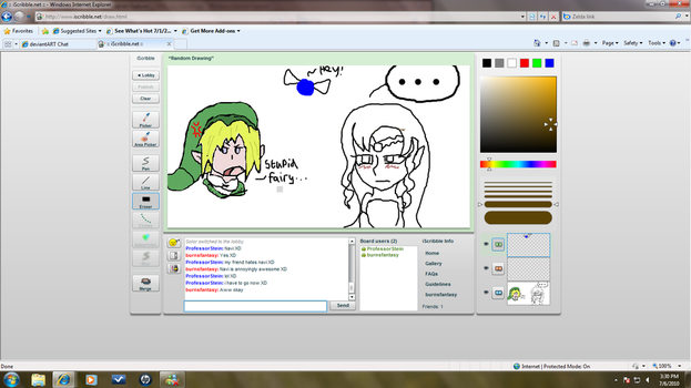 IScribble Zelda collabe by Tiny-angel-622