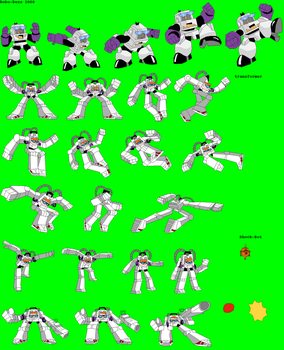 Dexter's Robots Sprite sheet by Wlanman by Placemario